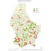 Carte des renards testés sur echinococcus multilocularis 2016