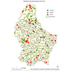 Carte des renards testés sur echinococcus multilocularis 2012-2015