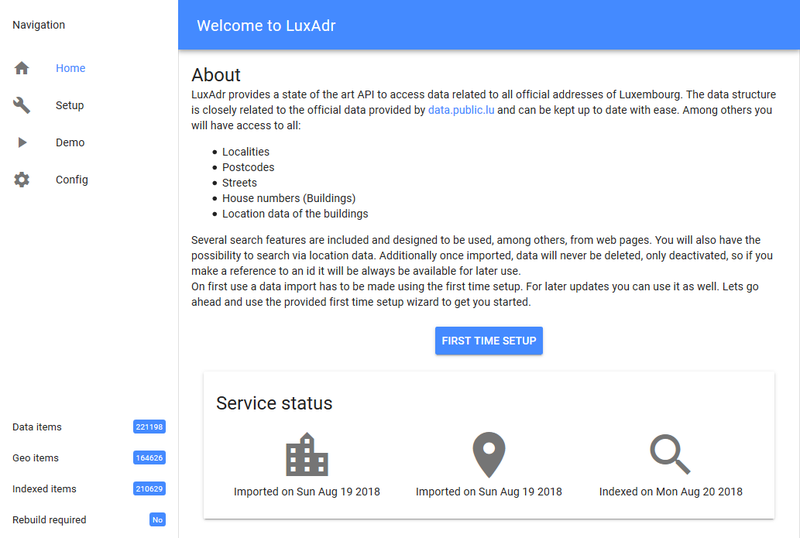 LuxAdr Service