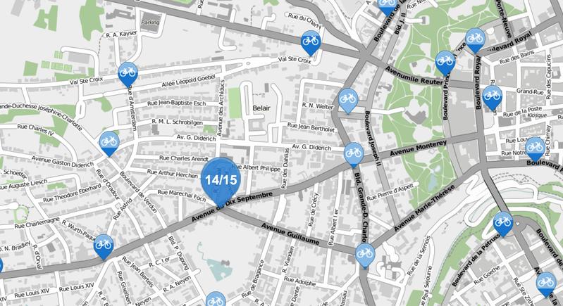 Carte interactive des vélohs disponibles en temps réel