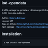 Lod-opendata - npm package